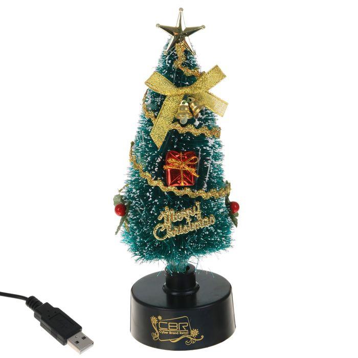 USB CBR NY 077, Ёлка, многоцветная подсветка МИКС