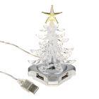 USB Hub CBR NY 073, Ёлка, многоцветная подсветка, 4 порта