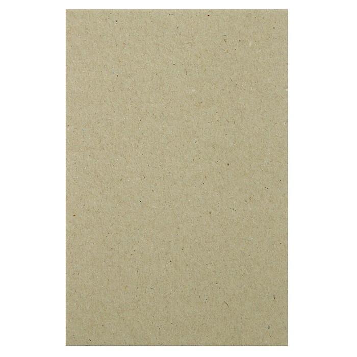 Переплетный картон для творчества (набор 10 листов) 10х15 см, толщина 0,7 мм, (серый)