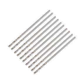 Сверло по металлу LOM, HSS, цилиндрический хвостовик, 1 мм, 10 шт. Ош
