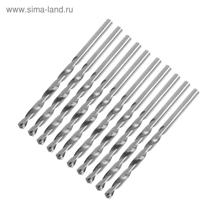 Сверло по металлу LOM, набор, 10 шт, сталь HSS, 3,5 мм