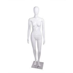 Манекен женский, безликий, обхват 84*60*90, h178, на подставке, белый глянец