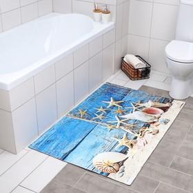 Коврик Доляна «Морские звёзды», 80×120 см