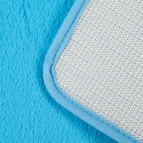 Набор ковриков для ванны и туалета, 2 шт: 40×50, 50×80 см цвет голубой - фото 4653093