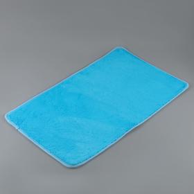 Набор ковриков для ванны и туалета, 2 шт: 40×50, 50×80 см цвет голубой - фото 4653094