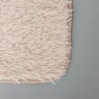 Набор ковриков для ванны и туалета, 2 шт: 40×50, 50×80 см цвет бежевый - фото 4653100