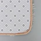 Набор ковриков для ванны и туалета, 2 шт: 40×50, 50×80 см цвет бежевый - фото 4653101