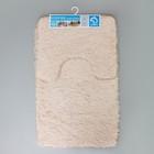 Набор ковриков для ванны и туалета, 2 шт: 40×50, 50×80 см цвет бежевый - фото 4653102