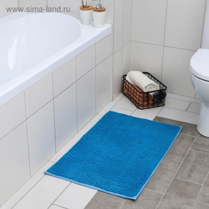 """Bath Mat """"Buckle"""", color blue"""