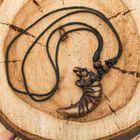 """Кулон мужской """"Тигр"""" длина 40-80 см регулируется, цвет коричнево-чёрный"""