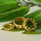 "Кольцо ""Ассорти"" корона, размер 14,17,18 МИКС, цвет золото"