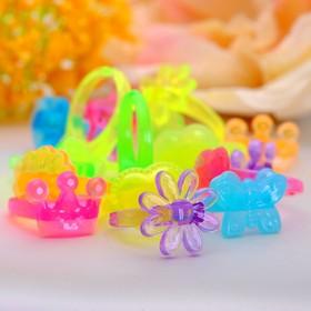 Кольцо детское 'Для принцессы', цвет микс, форма микс Ош