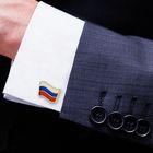 """Запонки мужские """"Флаг РФ"""""""