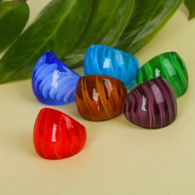 """Ring """"Murano glass"""", the edge, MIX color"""