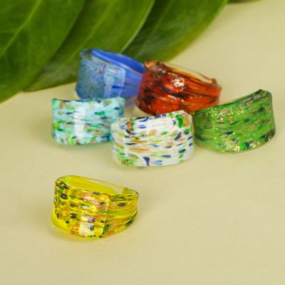 """Ring """"Murano glass"""" inclusions, MIX color"""