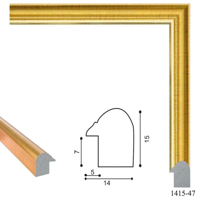 Багет пластиковый 14 мм х 15 мм х 2,9 м (Ш х В х Д) CD 1415–47 золотой
