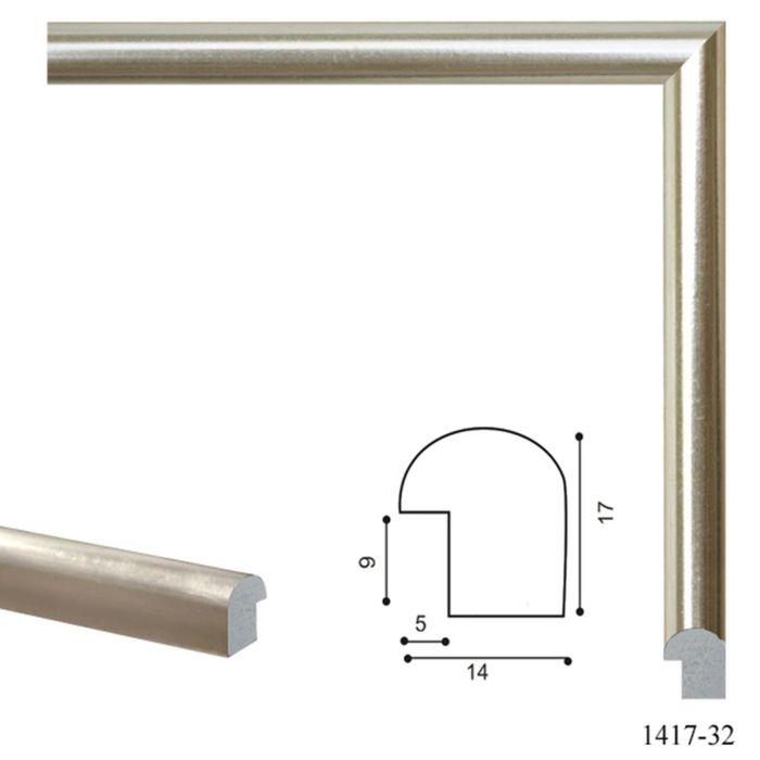 Багет пластиковый 14 мм х 17 мм х 2,9 м (Ш х В х Д) CD 1417–32 белое золото
