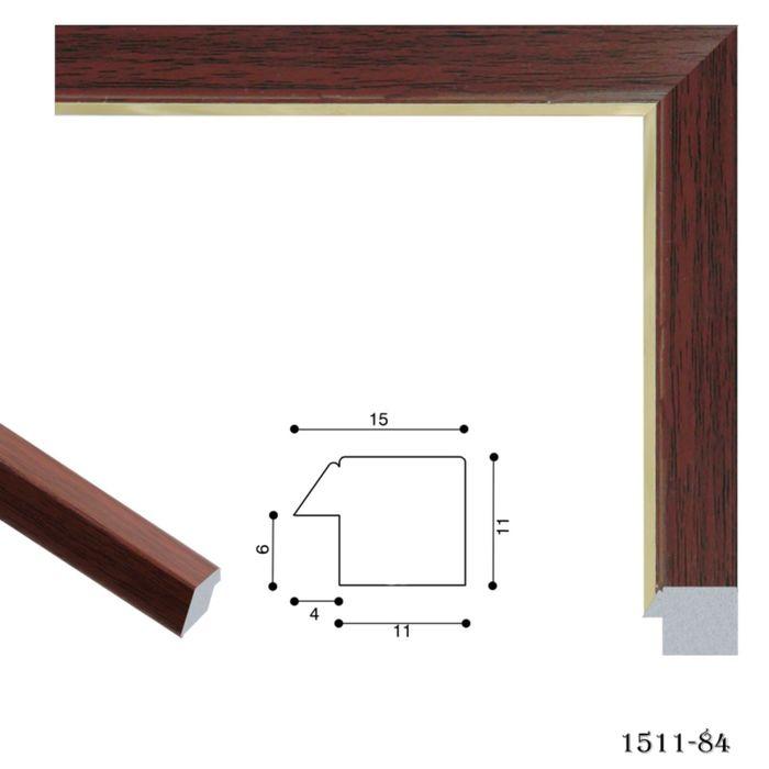 Багет пластиковый 15 мм х 11 мм х 2,9 м (Ш х В х Д) CD 1511–84 коричнево–малиновый/золотой