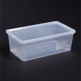 Ящик для хранения с крышкой 5,5 л, 34×19×12 см, цвет прозрачный