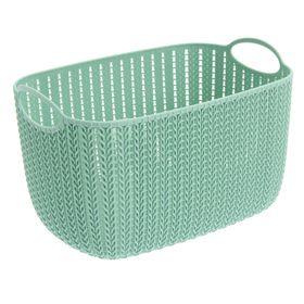 Корзина для хранения IDEA «Вязание», 7 л, 28×20×16 см, цвет фисташковый