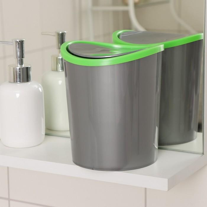 Контейнер для мусора настольный 1,6 л, цвет МИКС - фото 1716940