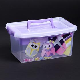 Контейнер для хранения с крышкой и вкладышем «Рукоделие», 4 л, 30×20×13 см, цвет лиловый