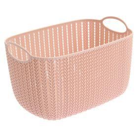 """Корзина 7 л """"Вязание"""", цвет розовый"""