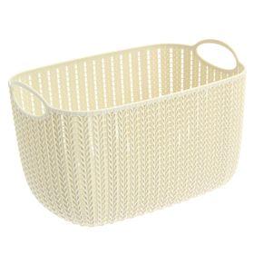 Корзина для хранения IDEA «Вязание», 7 л, 28×20×17,5 см, цвет бежевый