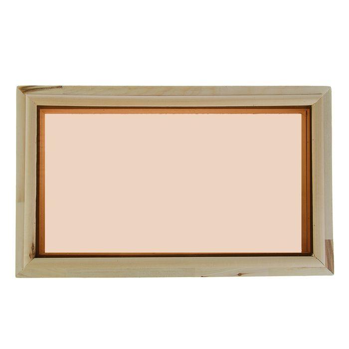 Окно глухое, 30х50 см, двойное стекло, тонированное