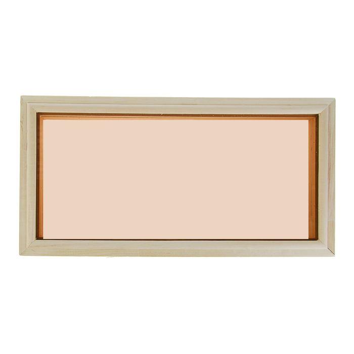 Окно глухое, 30х60см, двойное стекло, тонированное,