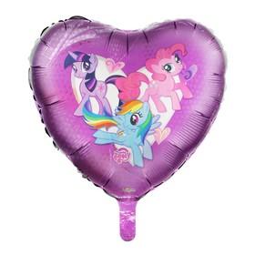 """Шар фольгированный 18"""" My Little Pony, сердце"""