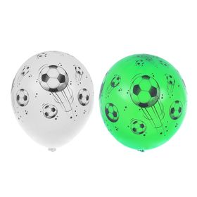"""Шар латексный 14"""" «Футбольный мяч», шелкография, пастель, набор 25 шт., цвета МИКС"""
