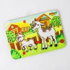 Рамка-вкладыш деревянная парная «Коза и козленок»