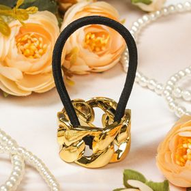 Резинка для волос 'Модная штучка', цепочка, золото Ош