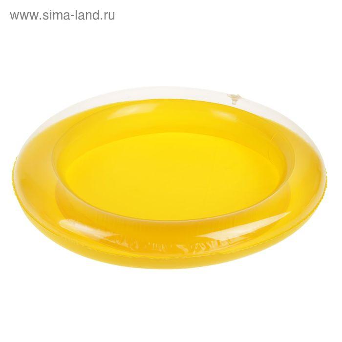 Коврик надувной для игры песком диаметр 46 см, цвет желтый