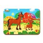 Рамка-вкладыш деревянная парная «Лошадь и жеребенок»