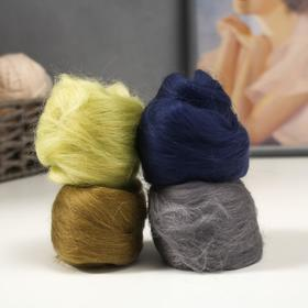 A set of wool for felting