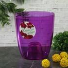 """Кашпо d=16 см """"Орхидея"""", цвет фиолетовый - фото 1694793"""
