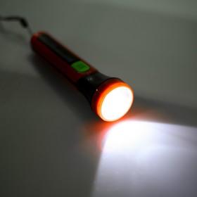 Handheld flashlight, 1 LED, ribbed sides, 2 AA, mixed, 16x4.5x4.5 cm
