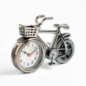 """Будильник """"Велосипед с корзиной"""", дискретный ход, 13.5 х18.5 см, d=7 см"""