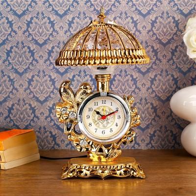 "Часы-светильник ""Золотые птички"", 30х17х17 см"