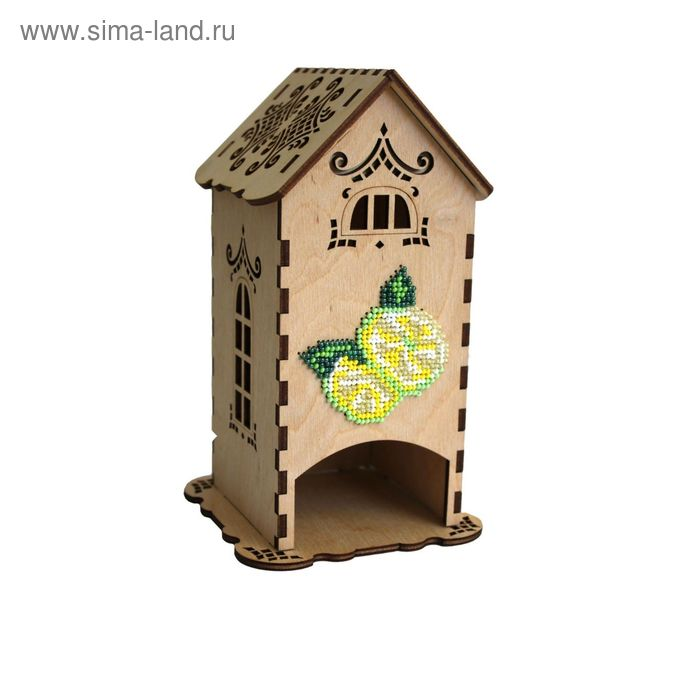 """Набор для изготовления чайного домика """"С лимоном"""" с бисером,  10,5х18х10,5 см"""