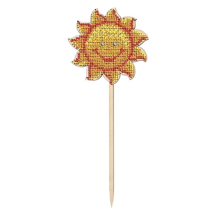 """Набор для изготовления топпера """"Солнышко"""" с бисером,  9х22,8 см"""