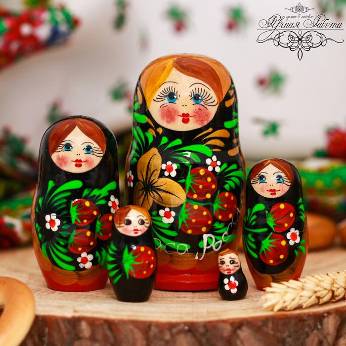 Матрёшка 5-ти кукольная «Хохлома. Краса России»