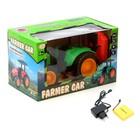 Трактор радиоуправляемый «Фермер», работает от аккумулятора, световые эффекты, цвета МИКС - фото 105647904