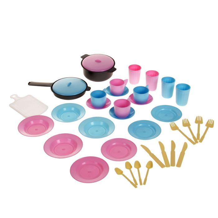 Игра «Детский кухонный набор в рюкзаке», 38 предметов - фото 105580766