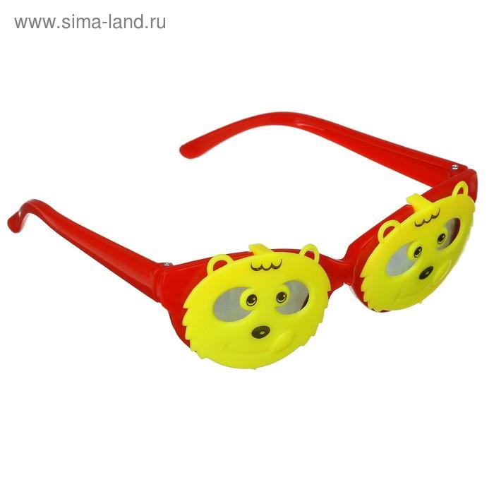 """Карнавальные очки - открывашка детские """"Котик"""", цвета МИКС"""
