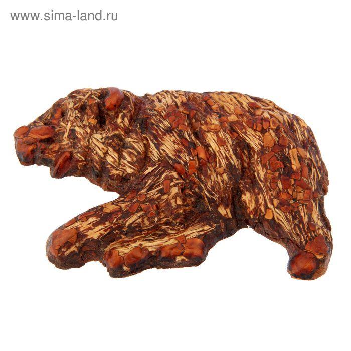 "Сувенир из кедропласта на магните ""Медведь"" малый 5x7 см"
