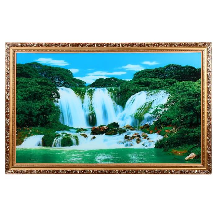 """Световая картина """"Горный водопад"""" 117*75 см - фото 939984"""