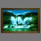 """Световая картина """"Горный водопад"""" 117*75 см - фото 939985"""